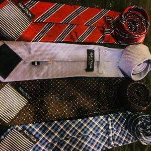 4 Nautica Assorted Designer Ties
